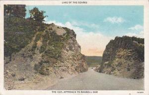 Missouri Lake Of the Ozarks The Cut Approch To Bagnell Dam 1936