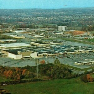 c 1972 West Town Mall Birds Eye View Aerial  Indoor Shopping Knoxville TN