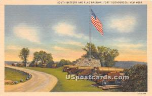 South Battery & Flag Bastion Fort Ticonderoga NY Unused