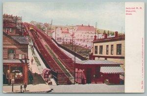 Duluth Minnesota~Incline Railroad~Saloon~Rooms Above~c1910 Postcard