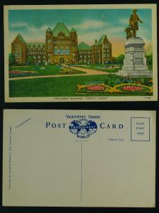 Parliament Buildings  Linen 1940s