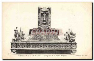 Old Postcard Reims Cathedral Shrine of the Holy Angels Bulb