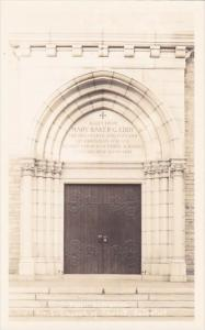 Real Photo Main Entrance First Church Of Chist Scientist Concord New Hampshire