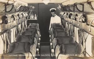 Armstrong Whitworth Argosy 18 passenger Airliner Interior RPPC
