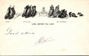Humour Lots Of Shoes Look Before You Leap  1905