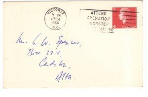 Canadian Postal Stationery, Elizabeth II, 4 Cent, Chess Move 1966