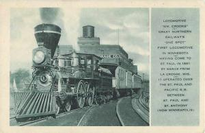 Great Northern Wm. Crooks First Locomotive in Minnesota MN
