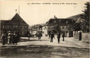 CPA Haute-Alsace - St-Amarin - Entree de la Ville - Route de Thann (366543)
