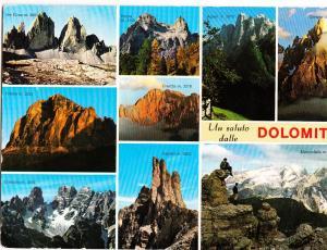 Italy, Un saluto dalle DOLOMITI, used Postcard
