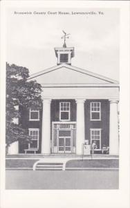 Brunswick County Court House Lawrenceville Virginia