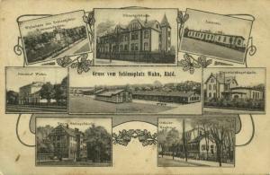 Schiessplatz Köln-WAHN, Rhld., Bahnhof, Lazaret, Kasino, Dienstgebäude (1910) AK