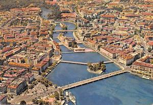 Switzerland Old Vintage Antique Post Card La Ville et des Ponts Writing on back