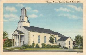 Tulsa OK~Wheeling Ave Christian Church~1946 Postcard