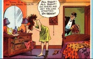 Mutoscope Card Humour Comics King Features Man Waiting On Woman Drying Hiar