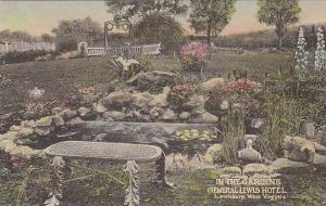 West Virginia Lewisburg In The Gardens General Lewis Hotel Albertype