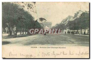 Old Postcard Paris Champs Elysees