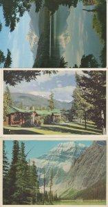 The Cottages at Jasper Park Lodge 3x Canada Colour 2x Postcard