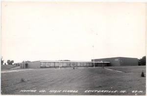 RPPC, Centerville, Iowa, View of Howar Jr. High School, 1970