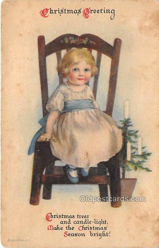 Christmas  Ellen H Clapsaddle Wolf Publishing 1920 a lot of yellowing from age