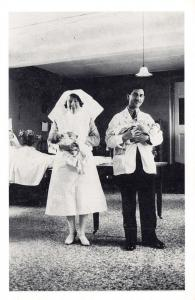 Nostalgia Postcard Sister Blackwell & Dr Rupisyya with new Baby 1931 Repro NS37