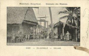 PC CPA PAPUA NEW GUINEA, VILLAGE, SÉMINAIRE DES MISSIONS, Postcard (b19739)