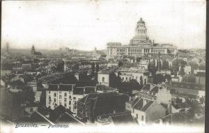 Vintage B&W Postcard BRUSSELS Bruxelles Belgium Panorama