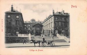 College de France, Paris, France, Early Postcard, Unused