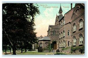 Jarvis St. Collegiate Institute Toronto 1908 Fort Wayne Vintage Antique Postcard