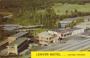 Aerial View, Lenver Motel and Restaurant, Dryden, Ontario, Canada, 40´s-60´s