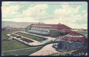 Zoological Gardens Highland Park Pittsburgh PA used c1910