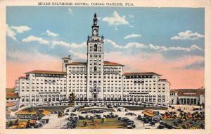 Miami-Biltmore Hotel, Coral Gables, Florida, Early linen Postcard, Unused