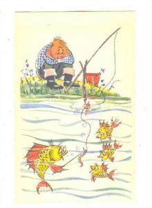 Fishing comic, Fish school, 20-40s