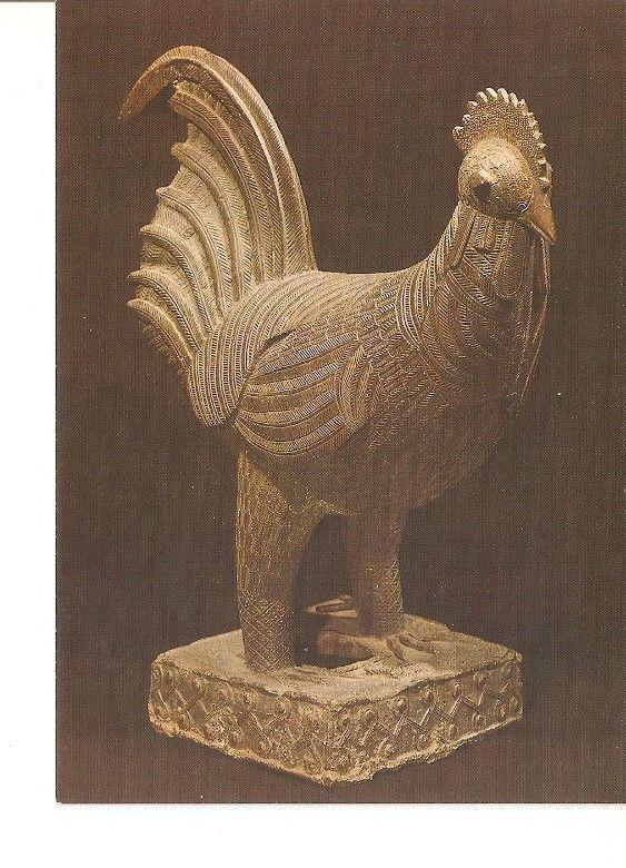 Postal 022142 : Benin (post 1500A.D.) bronze cock cast for the queen mothers...