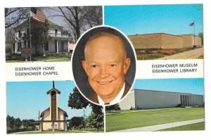 KS Abilene Eisenhower Center Multiview Portrait Inset Postca