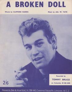 A Broken Doll Tommy Bruce 1960s Sheet Music