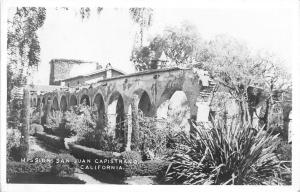 San Juan Capistrano California~Loveliest Spots: Postcard RPPC 1947
