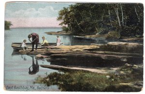East Boothbay, Me, Bathers