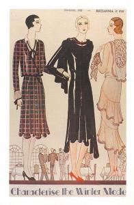 Britannia 1929 three new style for the autumn, dress, Nostalgia Reprint