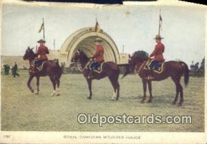 Black Watch, Royal Canadian Mounted Police, Old Vintage Antique Postcard Post...