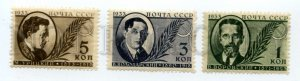 502383 USSR 1933 year government figures set
