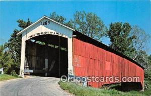 Covered Bridge Vintage Postcard Newport Bridge Vermillion County, IN, USA unused