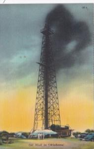 Oklahoma Tulsa Gushing Oil Well Curteich