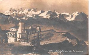 Switzerland Old Vintage Antique Post Card Rigi Kulm und die Berneralpen 1924 ...