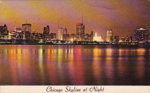Illinois Chicago Chicago Skyline At Night