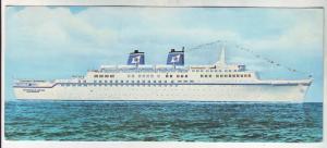 P447 JLs vintage 1972 bahamas stamped ship ss emerald seas super liner