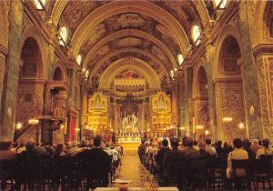 Malta Valletta St. John's Co-Cathedral Rich Baroque Interior