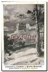 Old Postcard Lottery Contest of Paris Journal legends