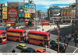 England London Piccadilly Circus, Double-decker Buses, Auto, Cars