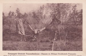 Hunting Party, Large bird, AOF, 1910-20s