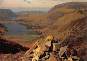 B97420 buttermere and crummock water from fleethwith pike    uk
